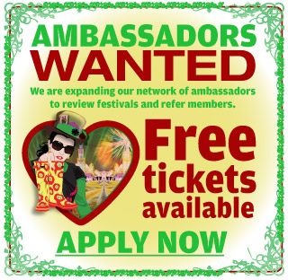 Student Ambassadors wanted to review festivals and refer members