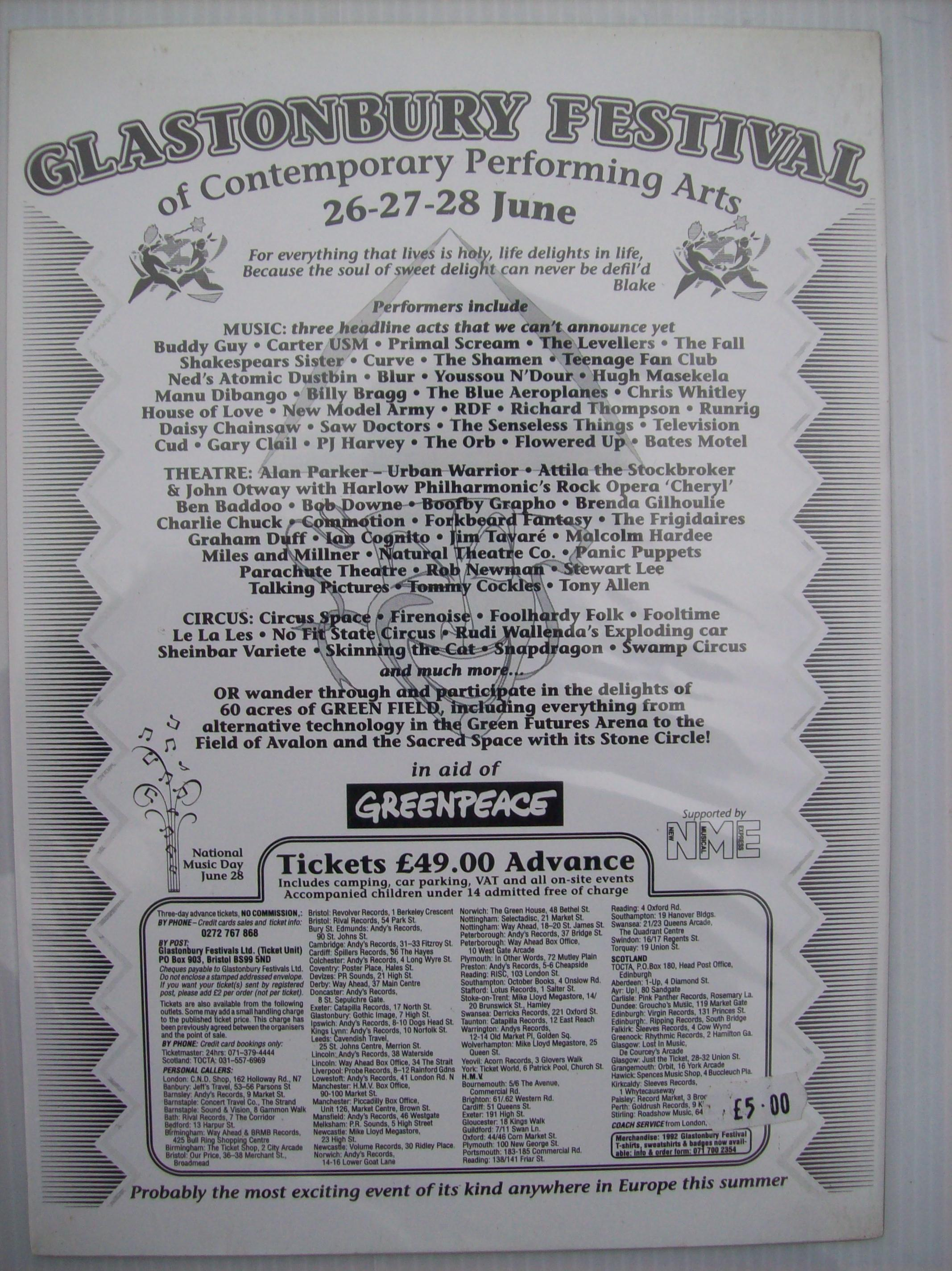 Find Past Festivals 1992